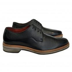 Sapato Masculino  Derby  Preto em Couro com Cadarço Solado em EVA